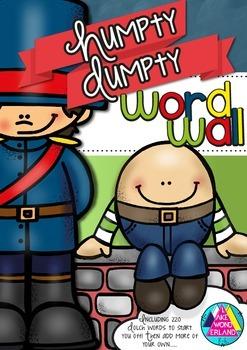 Humpty Dumpty Word Wall