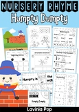 Humpty Dumpty Nursery Rhyme Worksheets and Activities