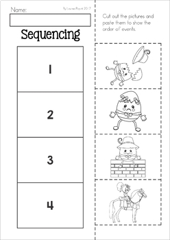 Humpty Dumpty Nursery Rhyme Worksheets and Activities