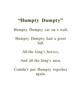 Humpty Dumpty Writing Puzzle Activity