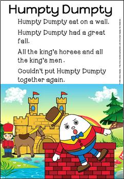 Humpty Dumpty poster and activities(FREE- FEEDBACK CHALLENGE)