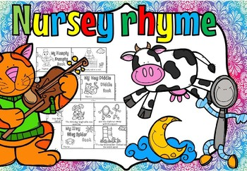 Nursery Rhyme little books and sequencing