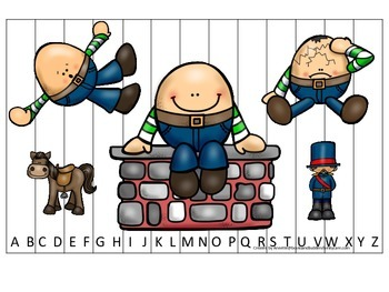 Humpty Dumpty themed Alphabet Sequence Puzzle child daycare curriculum activ