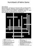 Hunchback of Notre Dame Novel Crossword