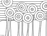 Hundertwasser Coloring Page