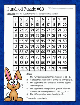 hundred board number puzzles math enrichment activities 1st grade. Black Bedroom Furniture Sets. Home Design Ideas