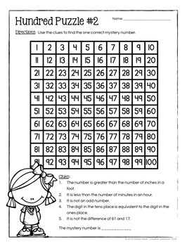 hundred board number puzzles math enrichment activities 2nd grade. Black Bedroom Furniture Sets. Home Design Ideas