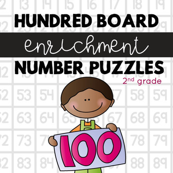 Hundred Board Number Puzzles! Math Enrichment Activities (