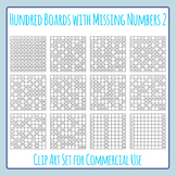 Hundred Boards with Missing Numbers 2 Clip Art Set for Commercial Use