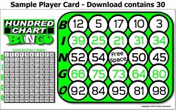 Hundred Chart Bingo