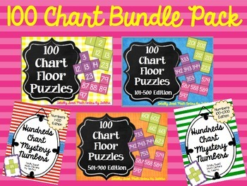 Hundred Chart Bundle Pack- Numbers to 1,000