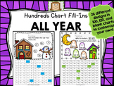 Hundred Chart Fill-Ins ALL YEAR