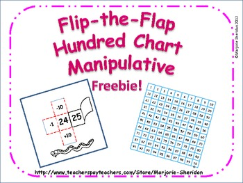 Hundred Chart Flip-the-Flap Cards