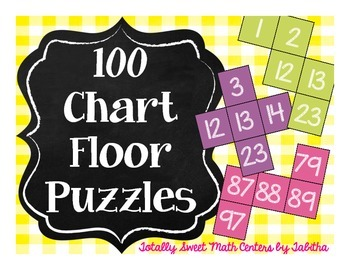 Hundred Chart Floor Puzzles- four 20-piece puzzles!