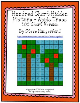 Hundred Chart Hidden Picture - Apple Trees