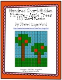 Hundred Chart Hidden Picture - Apple Trees (120 Chart Version)