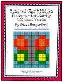 Hundred Chart Hidden Picture - Butterfly (100 Chart Version)