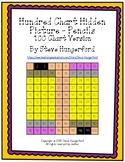 Hundred Chart Hidden Picture - Pencils (100 Chart Version)