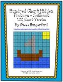 Hundred Chart Hidden Picture - Sailboat (100 Chart Version)