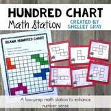 Hundred Chart Math Station: Number Sense with a 100 Chart
