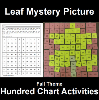 Hundred Chart Mystery Picture Leaf Picture