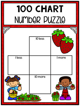Hundred Chart Puzzles: Strawberry Patch