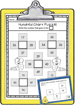 Hundred Chart Puzzles and Worksheets