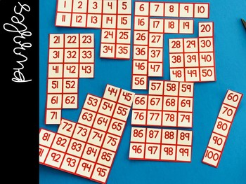 Hundred Chart Puzzles (3 Activities)