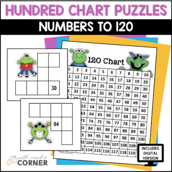 Hundred Chart Puzzles: Numbers to 120