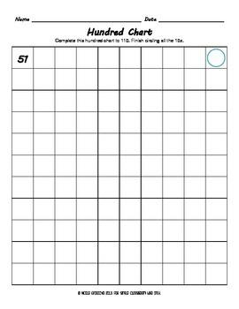 Hundred Chart Worksheet Set