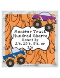 Hundred Charts- Count by 1's, 10's, 5's, or 2's- Monster Trucks