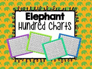 Hundred Charts - Elephant Themed