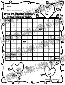 Hundred Charts Hearts, Math Skills