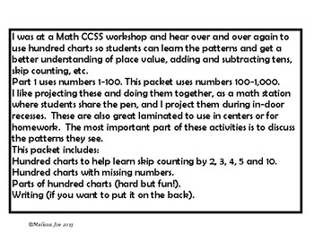 Hundred Charts Patterns and Puzzles Part 2 100-1,000
