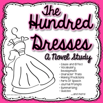 Hundred Dresses Novel Study & Activities | Hundred Dresses by Eleanor Estes