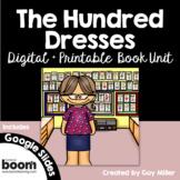 The Hundred Dresses Novel Study: vocabulary, comprehension, writing, skills