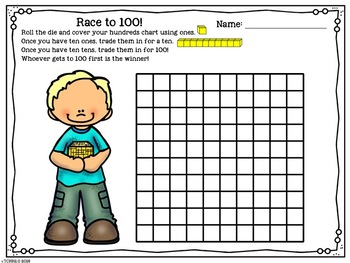 100th Day Math Game Hundred Flat Race