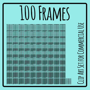 Hundred Frames Math Templates Clip Art Set - 101 images!