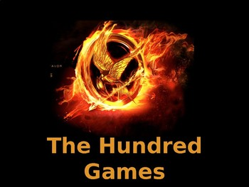 Hundred Games (100th Day of School) Activities for 6th Graders (Hunger Games)