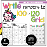 Writing Numbers - Counting to 120 Worksheets and Anchor Chart