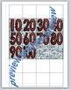 Hundred Pocket Chart Number Cards, Red Silver Glitter
