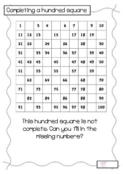 Hundred Square Activities