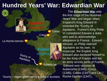 Hundred Years' War PowerPoint and Comic Strip Activity - FUN, EASY, INFORMATIVE