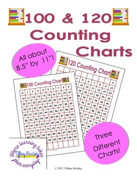 Hundred and 120 Counting Charts