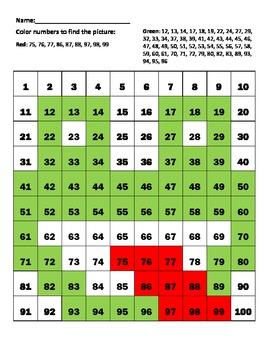 """Hundreds chart """"Frog"""""""