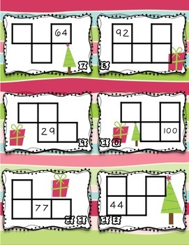 Hundred chart missing numbers math station FREEBIE