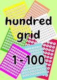 Hundred grids 1 to 100 in clouds
