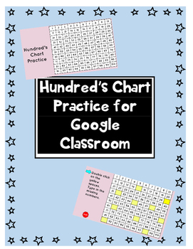 Hundred's Chart Practice for Google Classroom