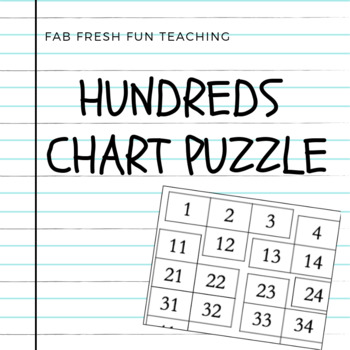 Hundred's Chart Puzzle - Math Activity