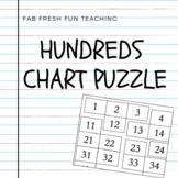 Hundred's Chart Puzzle - Math Activity